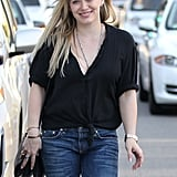 Hilary Duff was all smiles in LA on Wednesday.