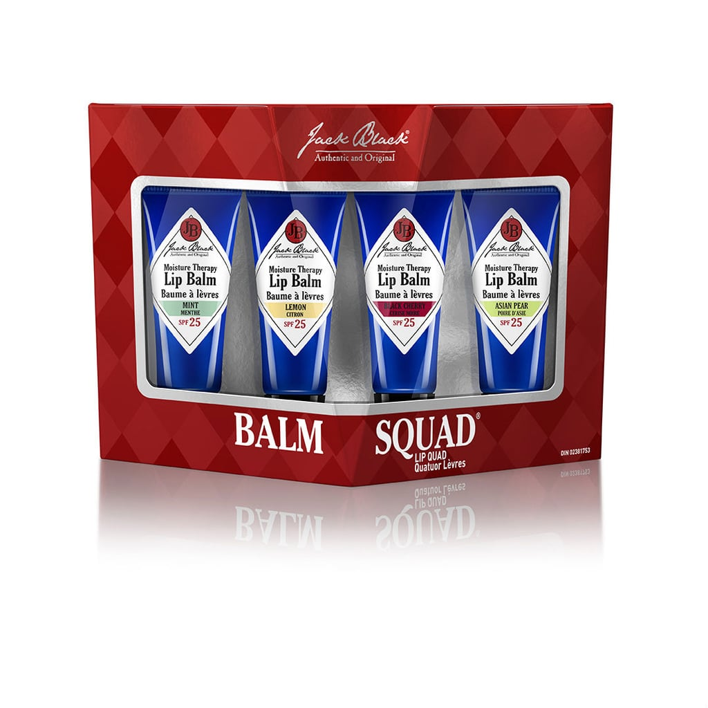 Some men may not admit it, but lip balm is the one beauty item they'll buy again and again. Keep him well-stocked with the Jack Black Balm Squad set ($25). Best of all, these lip balms go on clear, so you'll hear no complaints about shininess. Plus, it comes with four flavors: natural mint and shea butter, grapefruit and ginger, shea butter and vitamin E, and acai berry and vanilla.