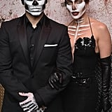 Casper Smart and Jennifer Lopez as Skeletons