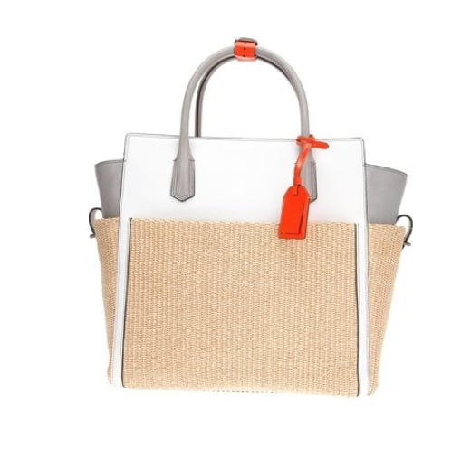 We love the Summer-feeling raffia on this Reed Krakoff Block Colour Tote ($1,957).
