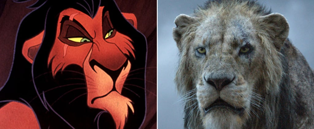 Lion King Cartoon and Live-Action Cast Side-by-Side Photos