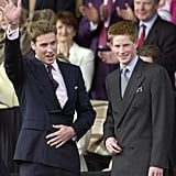 The brothers sat in the Royal Box together for the June 2002 concert to commemorate Queen Elizabeth II's Golden Jubilee.