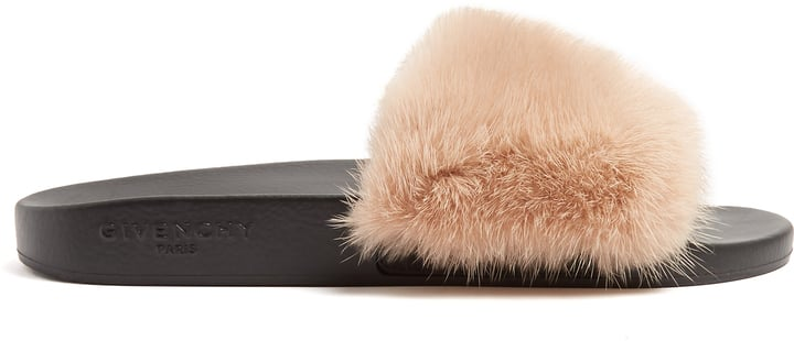 ec9a4329a236 Givenchy Mink-Fur and Rubber Slides