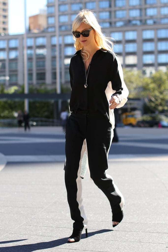 A sporty-inspired jumpsuit with cool-girl edge.