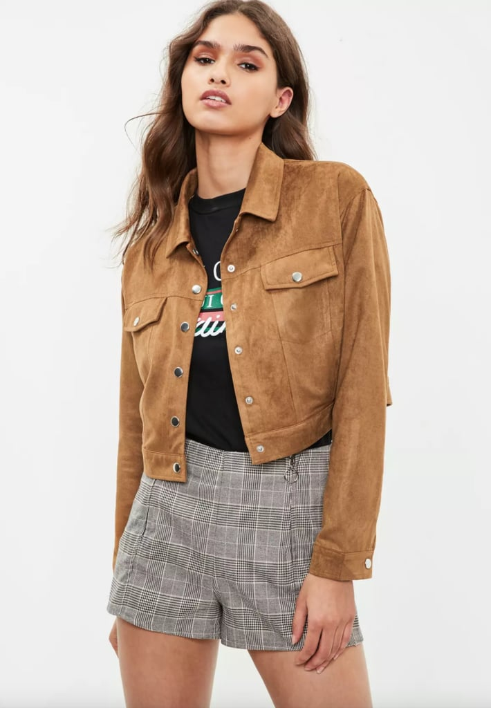 eeccd7e63c2 Missguided Brown Faux Suede Ultimate Trucker Jacket