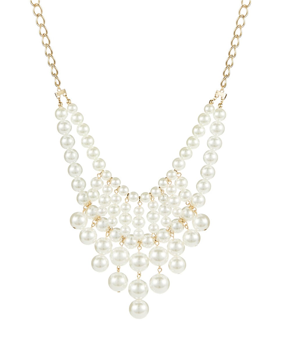 Robert Rose Pearl Bib Necklace