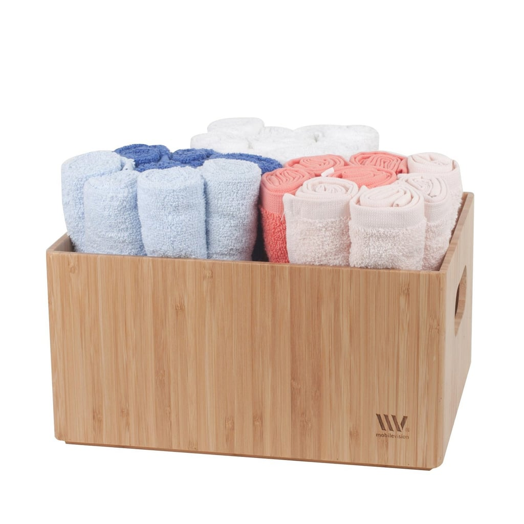 MobileVision Bamboo Bathroom Organizers