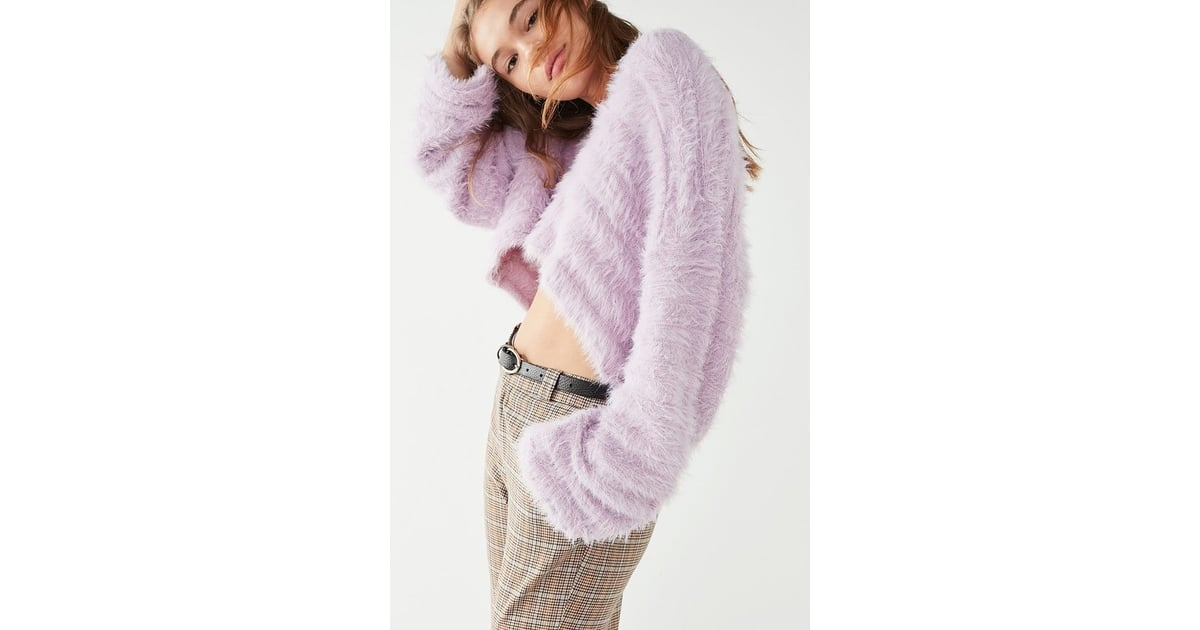 e04d0ecfb Urban Outfitters Leela Fuzzy V-Neck Pullover Sweater | Cozy Gifts ...