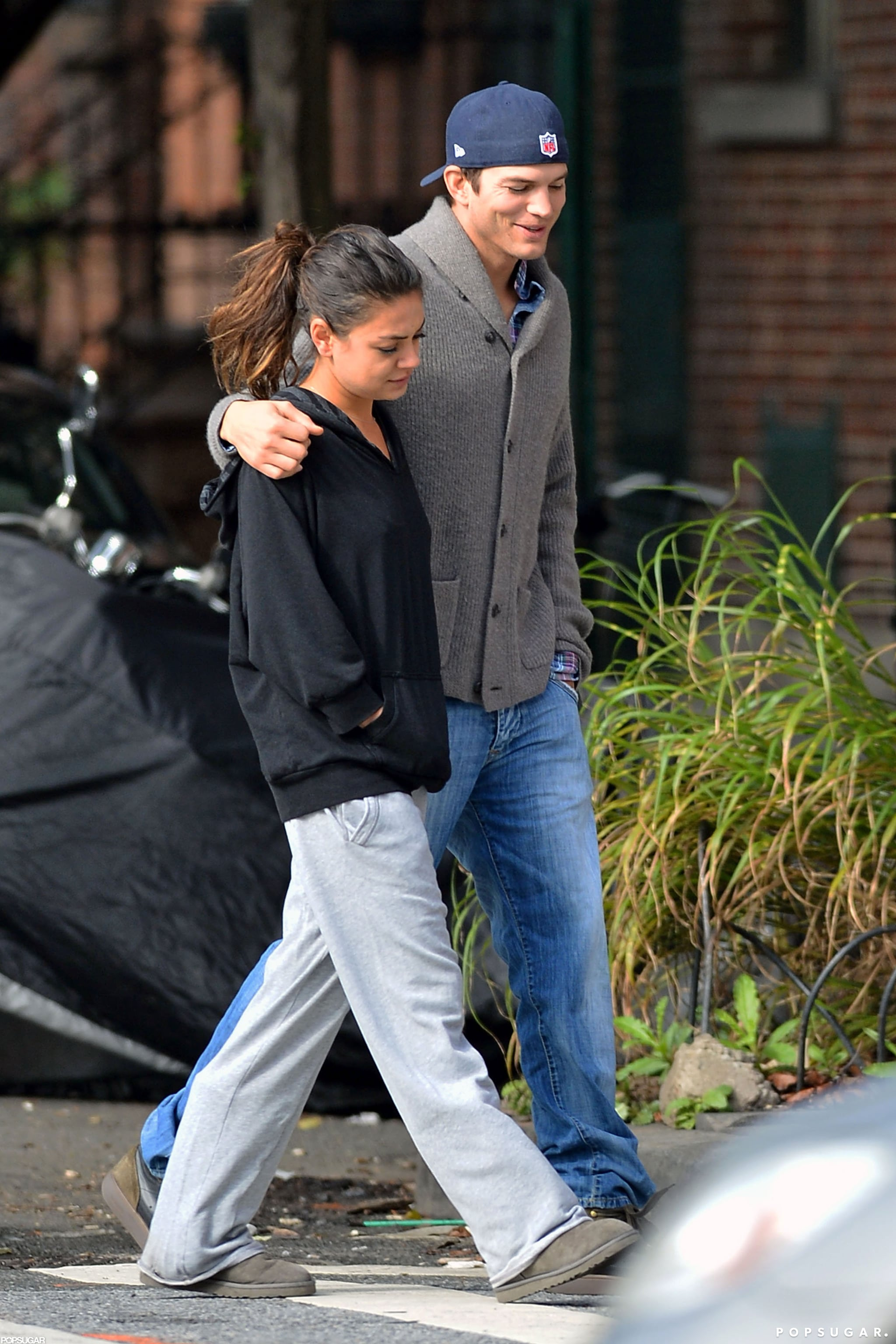 Mila Kunis and Ashton Kutcher stuck together in NYC.