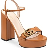 Gucci GG Marmont Platform Sandals