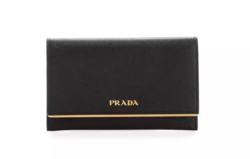 cf5253c86d01 Prada Saffiano Leather Bar-Flap French Wallet