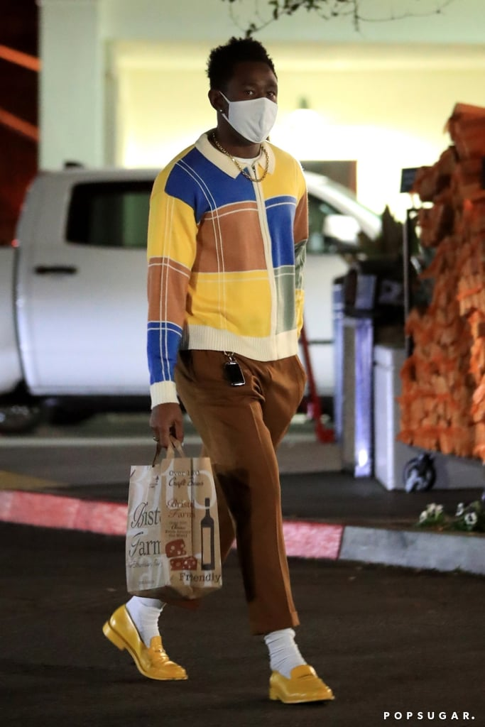 See Tyler, the Creator Wearing Bright Yellow Loafers