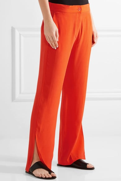 Equipment Niko Washed-Silk Wide-Leg Pants, $287.31