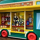 Visit one of the two merchandise carts, which are actually toy trucks.
