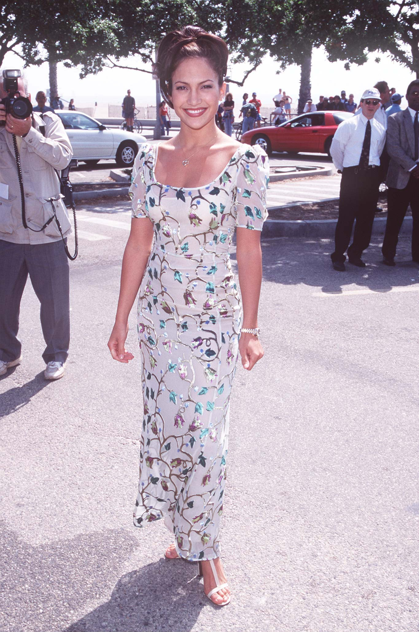 A floral frock for the Independent Spirit Awards in '97.