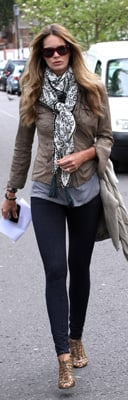 Elle Macpherson Makes School Run in Jeggings and Cargo Jacket