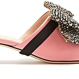 Gucci Crystal-Embellished Mules