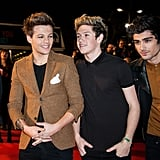 Louis Tomlinson, Niall Horan, and Zayn Malik at the NRJ Music Awards in 2013
