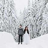 Use a Dreamy Snow Backdrop