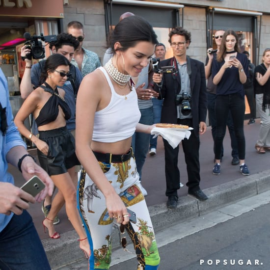 Kendall Jenner Printed Pants in Cannes