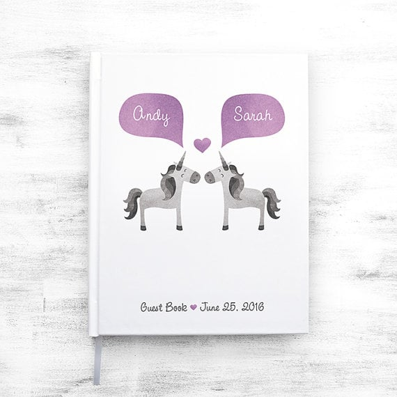 Unicorn Wedding Guest Book
