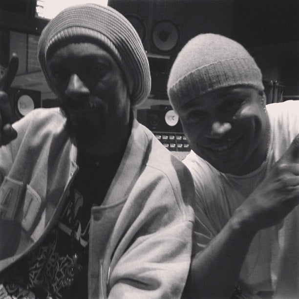Snoop Dogg and LL Cool J spent time together in the recording studio. Source: Instagram user snoopdogg