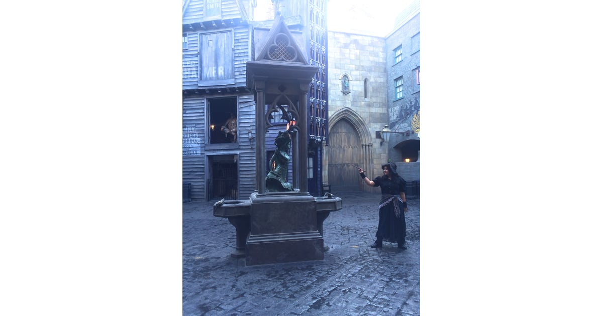 The Mermaid Fountain Does More Than Just Spout A Bit Of Water Harry Potter World Secrets