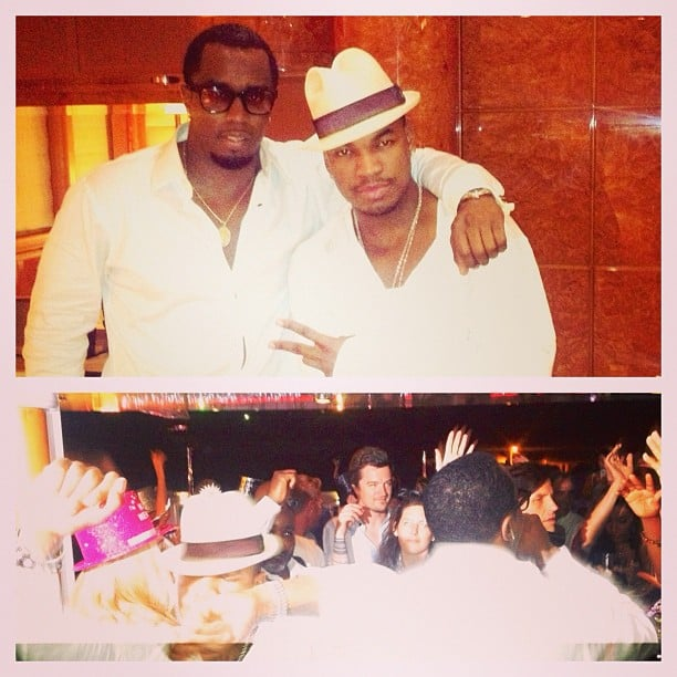 Diddy brought in 2013 in style on a yacht with friends.  Source: Instagram user diddy