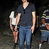 Alexander Skarsgard attended performances at the second weekend of Coachella.