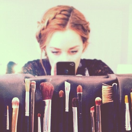 Lauren Conrad showcased an impressive collection of makeup tools.