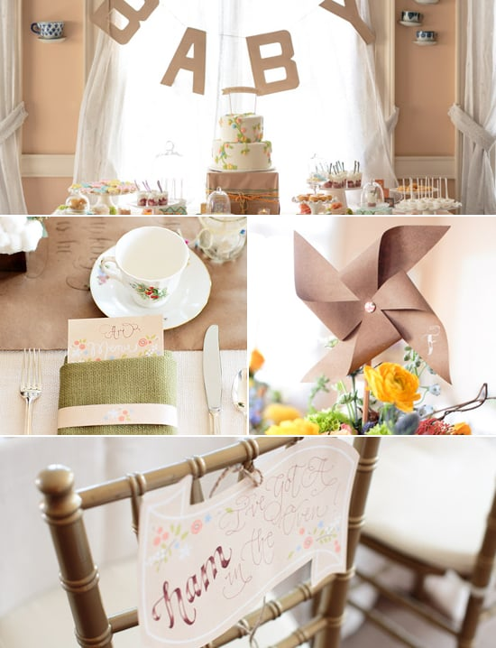 garden themed baby shower popsugar moms