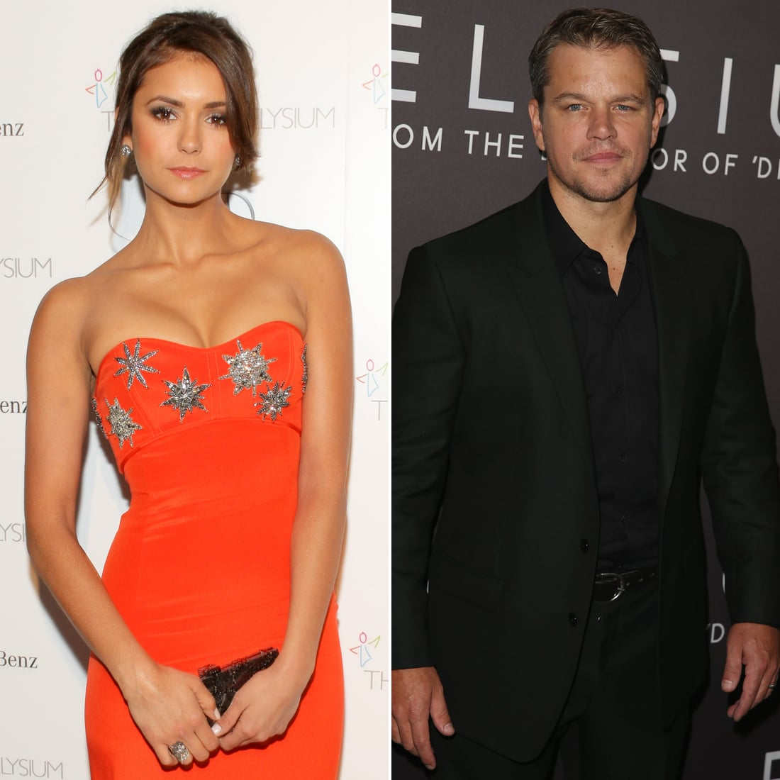 Nina Dobrev and Matt Damon