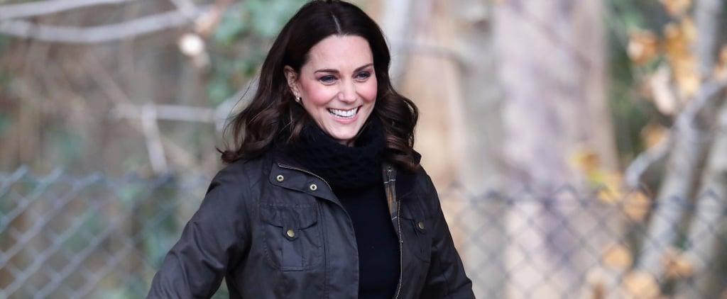Kate Middleton Wearing Black Turtleneck Sweater