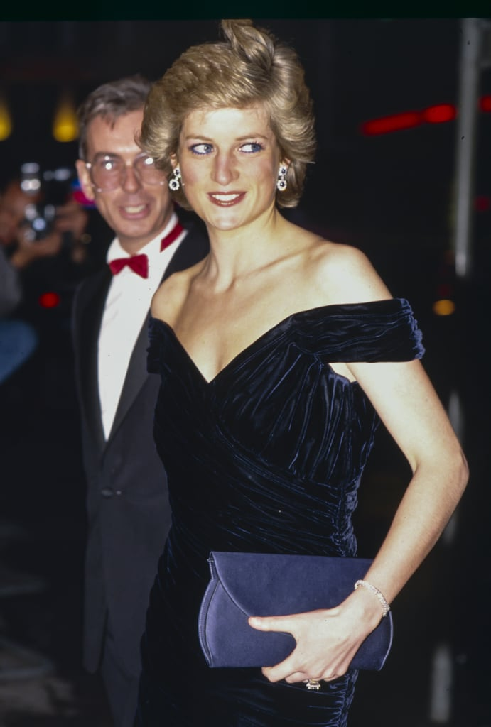 Princess Diana Wearing the Victor Edelstein Dress at the Wall Street Premiere in 1988