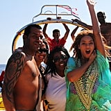 Beyoncé took a boat ride with friends.