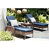Hampton Bay Cambridge Brown Wicker Outdoor Chaise Lounge