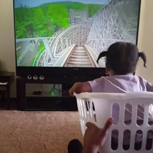 Dad Creates Roller Coaster For Daughter