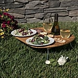 Collapsible Wine and Snack Table