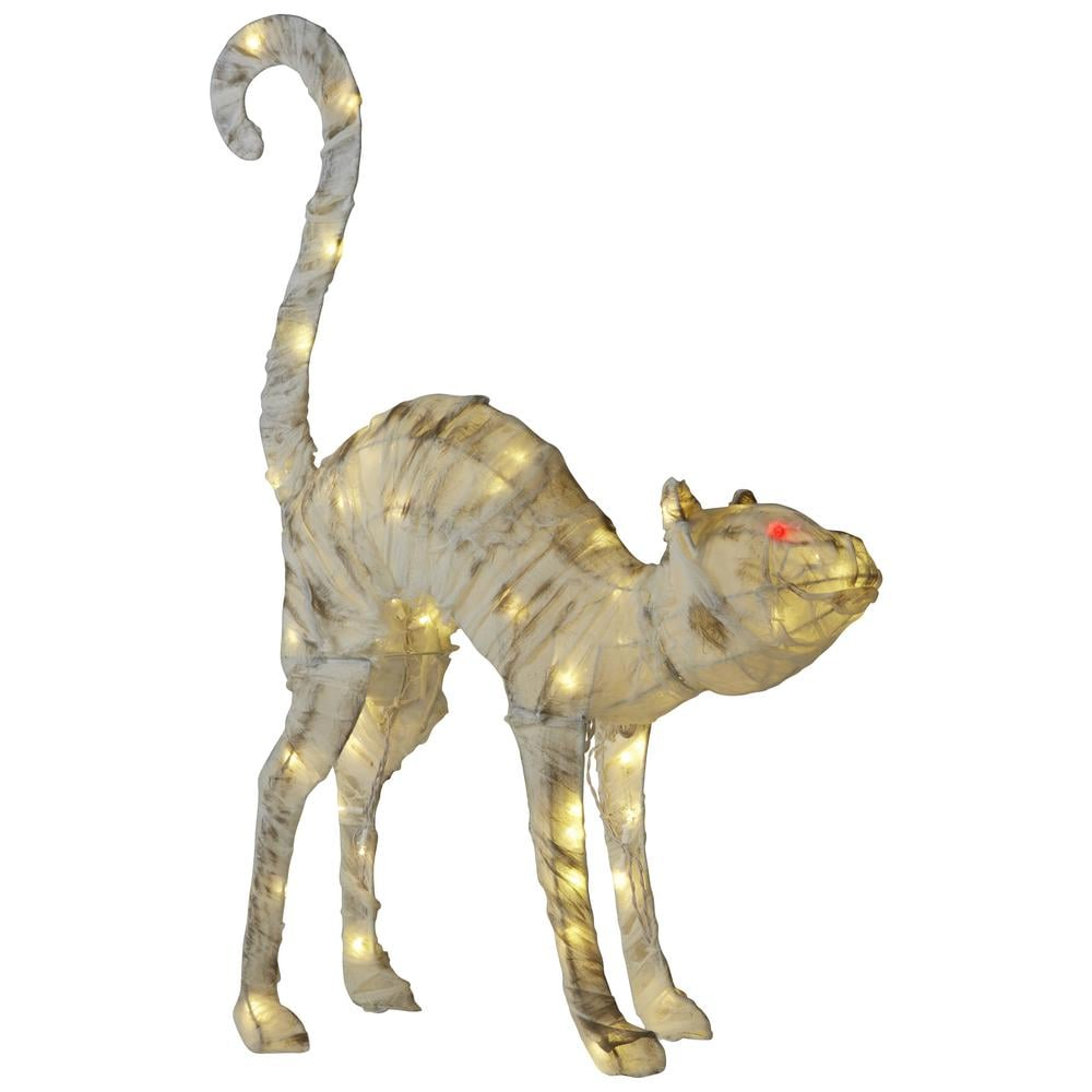 LED Burlap Mummy Cat ($50)