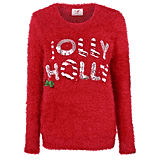 George Light-Up Jolly Holly Eyelash Christmas Jumper