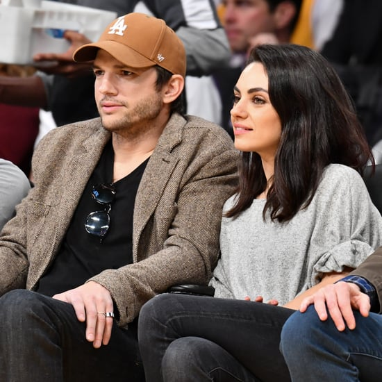 Ashton Kutcher and Mila Kunis at Lakers Game January 2019