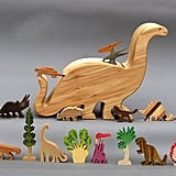 Wooden Dinosaur Toy Set