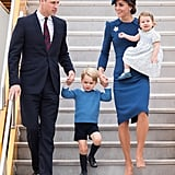 William and Kate Arriving in Canada With George and Charlotte, 2016