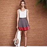 The red stripe adds a sporty feel to this skirt.