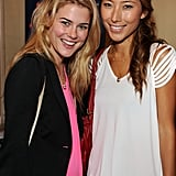 Meeting up with fellow Aussie expat Dichen Lachman at the DPA pre-Emmy Gift Lounge in Sept. 2009.