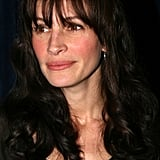 Julia Roberts With Dark Brown Hair and Fringed Bangs in 2006