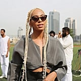 Solange With Platinum Blonde Hair September 2017