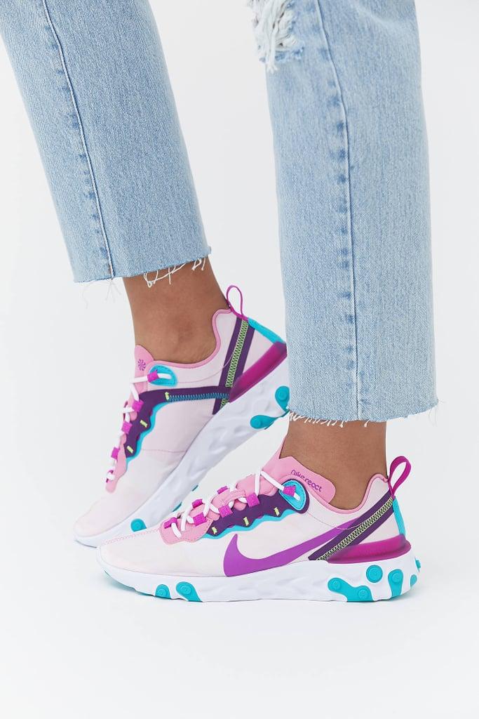 Sicilia Desalentar Tengo una clase de ingles  Nike React Pink and Purple Sneakers 2020 | POPSUGAR Fashion