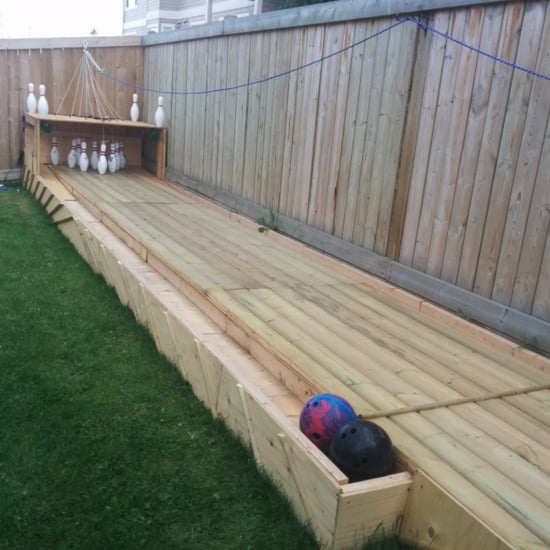 DIY Garden Bowling Alley