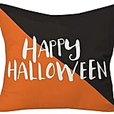 """وسادة Halloween Hipster من علامة DENY Designs ومن تصميم زوي وودارز (بحجم 20""""x20"""") (بسعر 49.99$ دولار أمريكيّ؛ 184 درهم إماراتيّ؛ ريال سعودي)"""